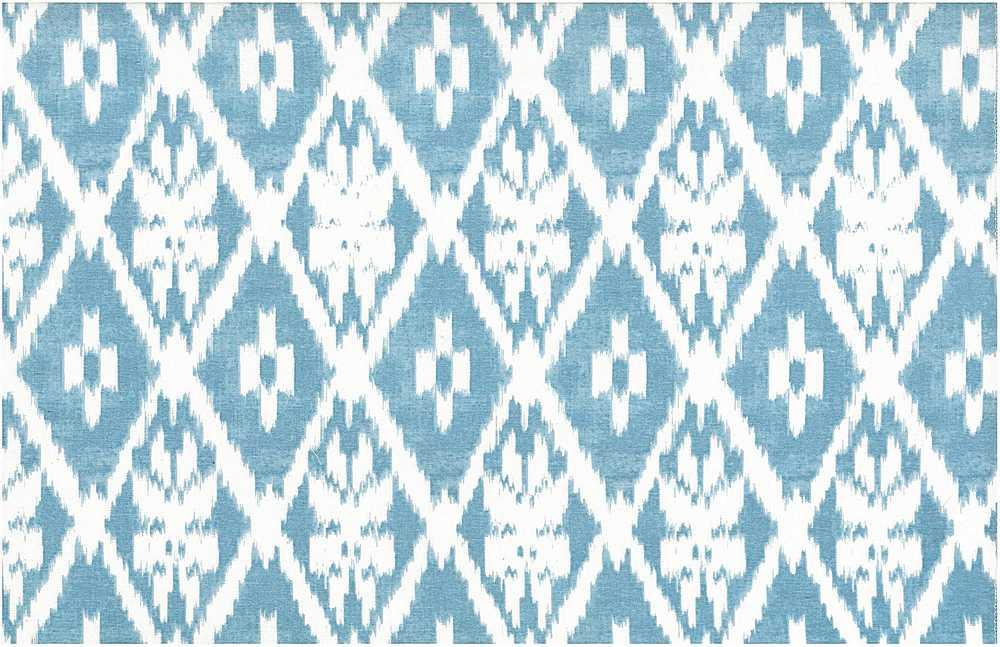 0905/5 / LAGOON/WHITE / ANDRA IKAT PRINT