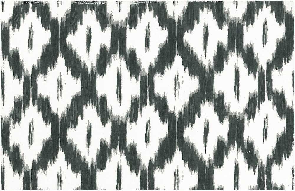 0906/1 / ONYX/WHITE / AKBAR IKAT PRINT