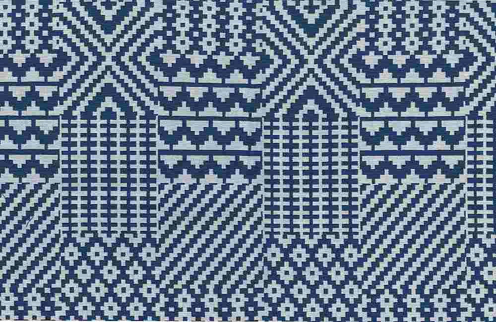1179/1 / BLUE/WHITE / QUILT DOUBLEWEAVE