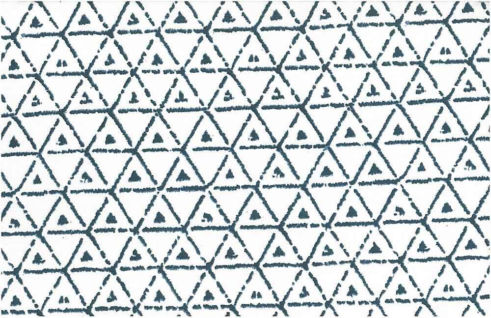9201/1 / BLUE/WHITE / BROKEN TRIANGLE PRINT