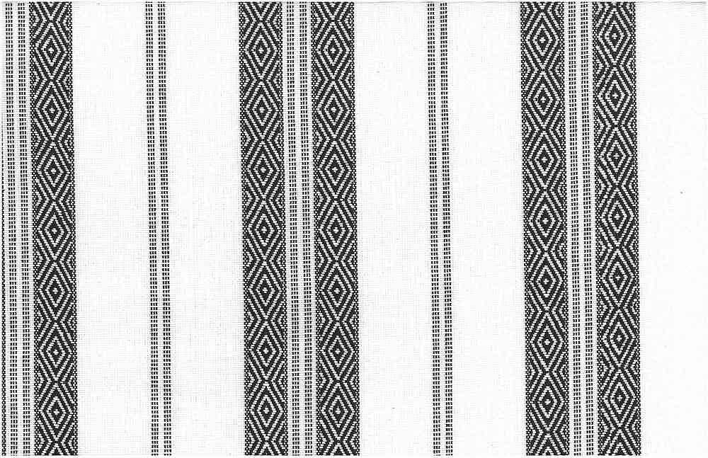 2322/2 / BLACK ON WHITE / BERBER STRIPE