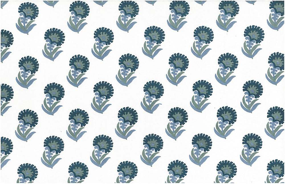 9208/1 / BLUES/WHITE / PURU PRINT