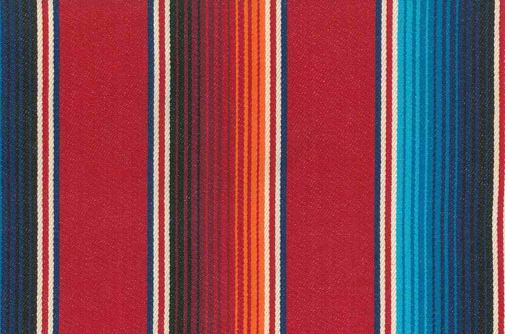 2334/2 / RED MULTI / FIESTA STRIPE