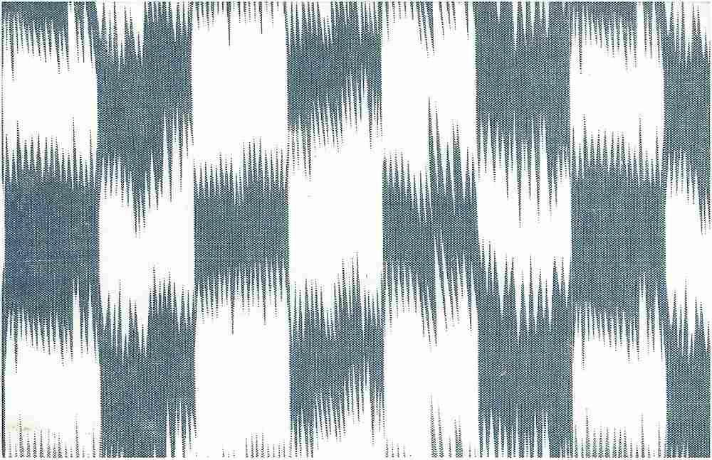 9213/1 / INDIGO/WHITE / BRUSHSTROKE IKAT PRINT