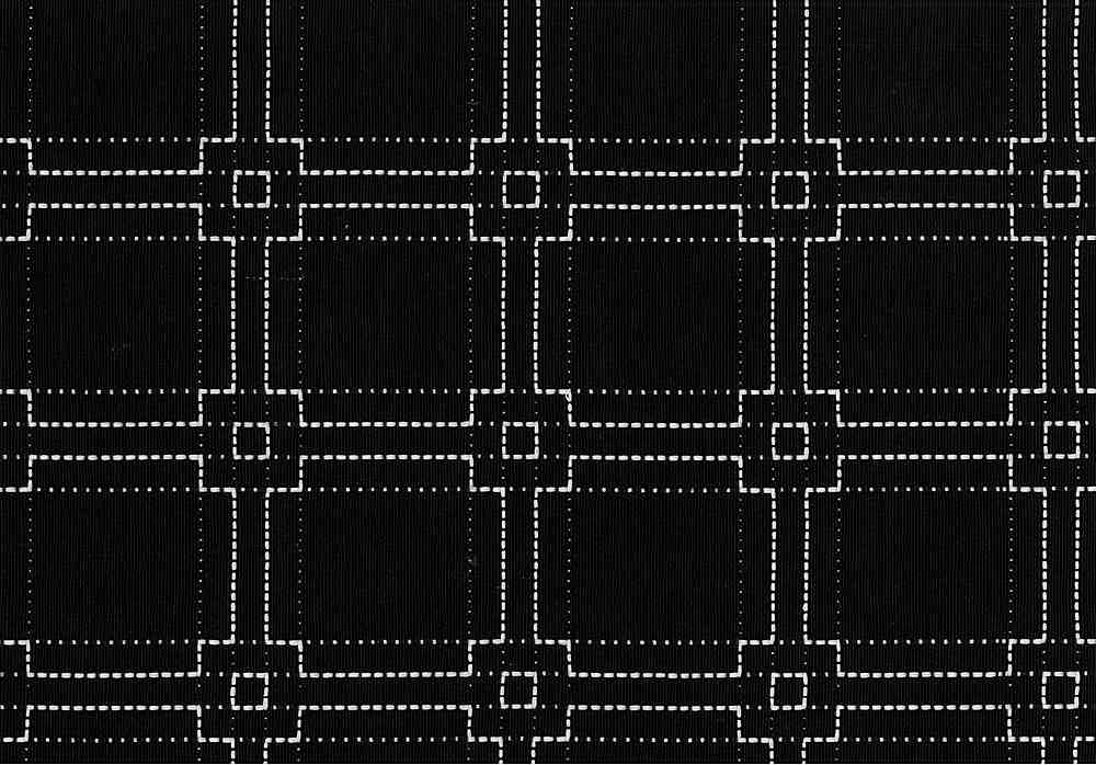 1184/2 / WHITE ON BLACK / SQUARE STITCH