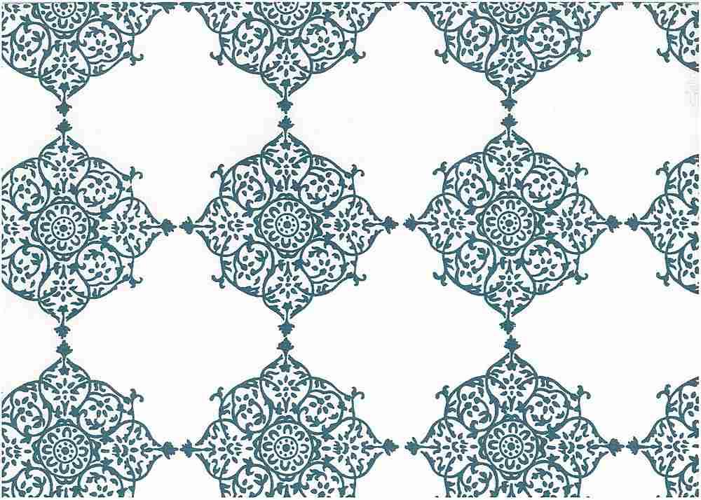 9222/1 / TILE BLUE/WHITE / SEVILLE PRINT