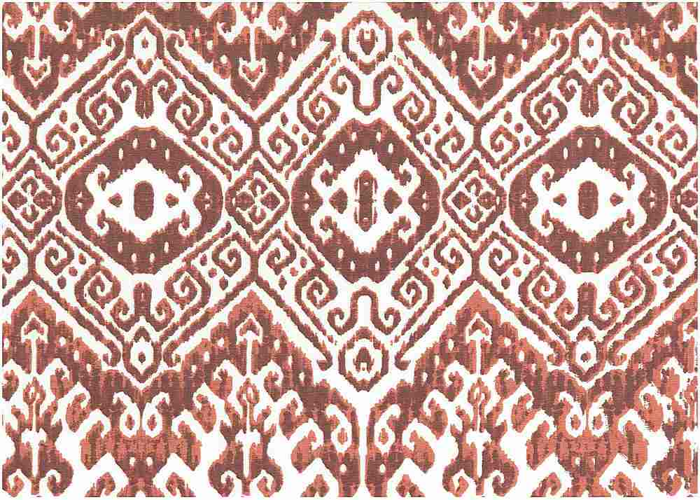 9224/6 / LACQUER RED / CHINESE IKAT PRINT