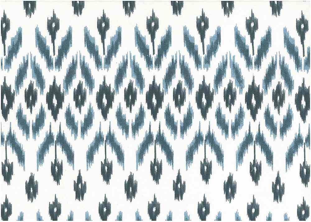 9225/1 / BLUES / GARLAND IKAT PRINT