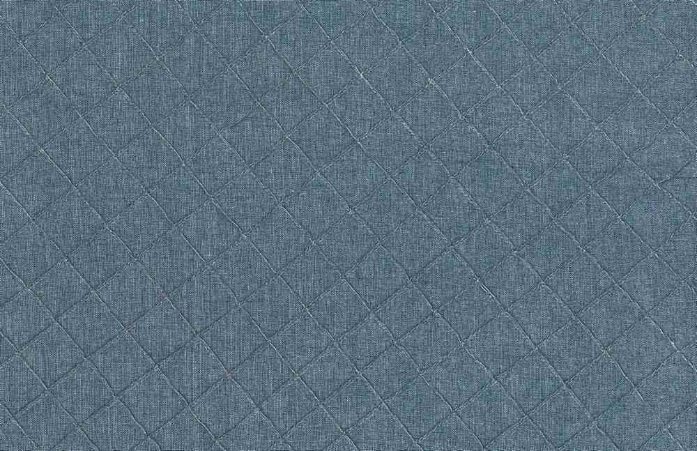 8027/5 / BLUE / SMALL DIAMOND PINTUCK CHAMBRAY