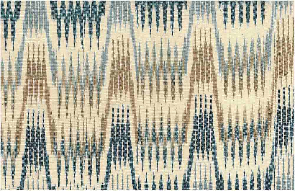 1506/1 / BLUE/TAUPE / SPIRE IKAT