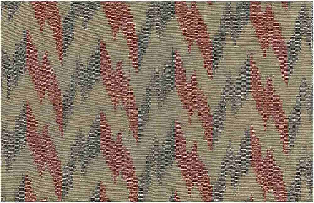1508/2 / RED/BROWN / FLAME IKAT