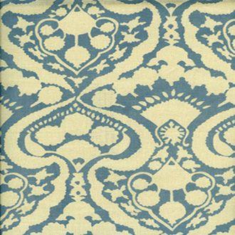 0946/1 / BLUE CHAMBRAY / ARABESQUE HANDPRINT