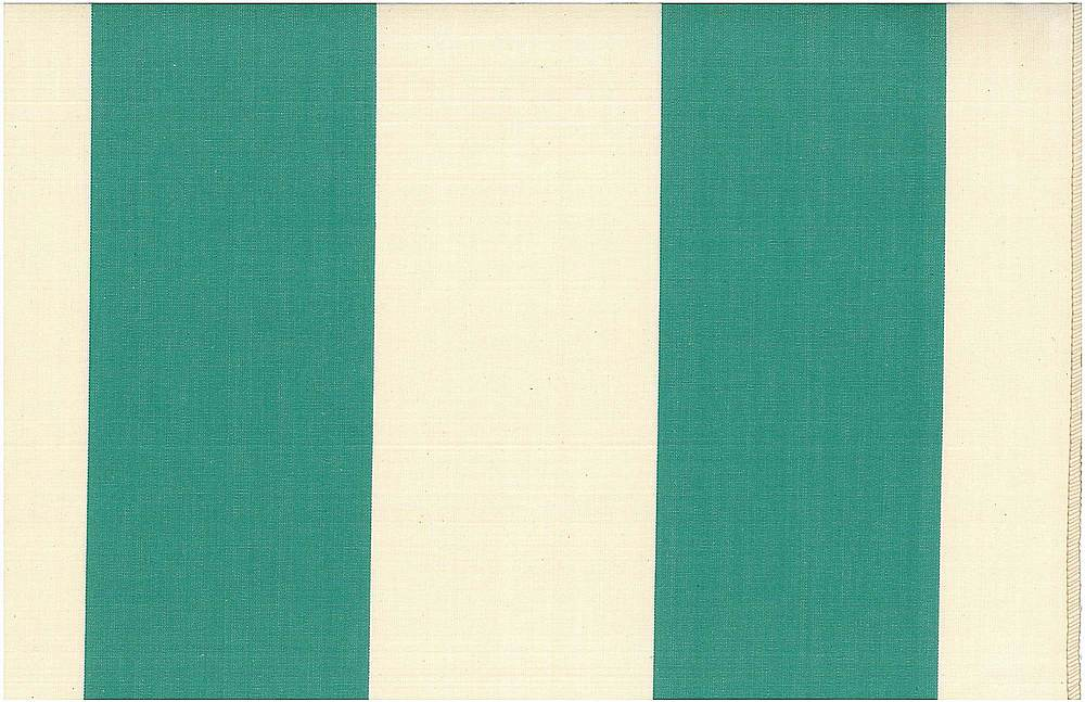 2268/4 / TEAL/NAT / GRAND AWNING STRIPE