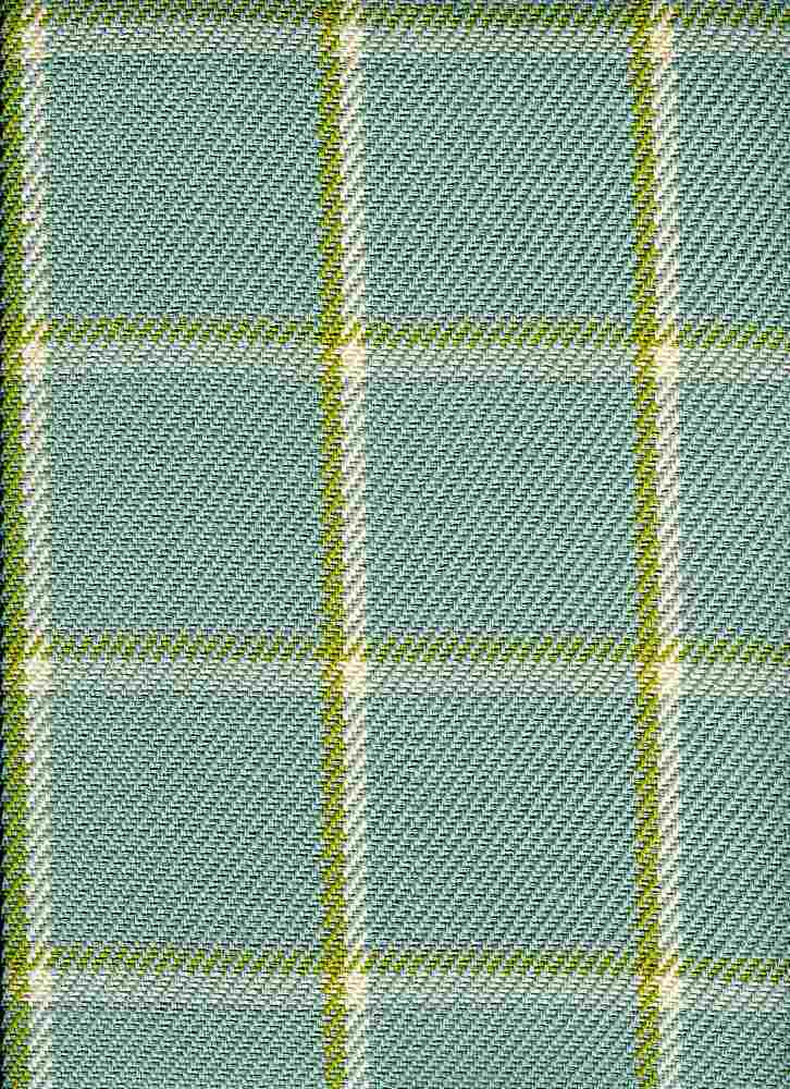 3186/4 / PALE AQUA / QUINCY PLAID