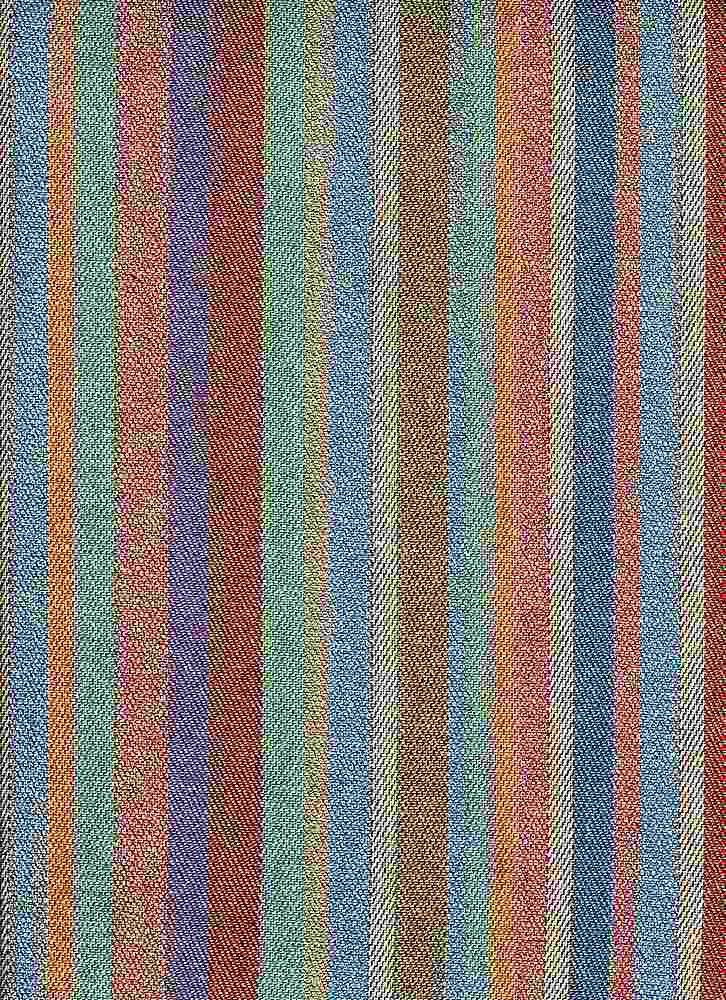 2302/1 / BLUE MULTI / PUEBLO STRIPE