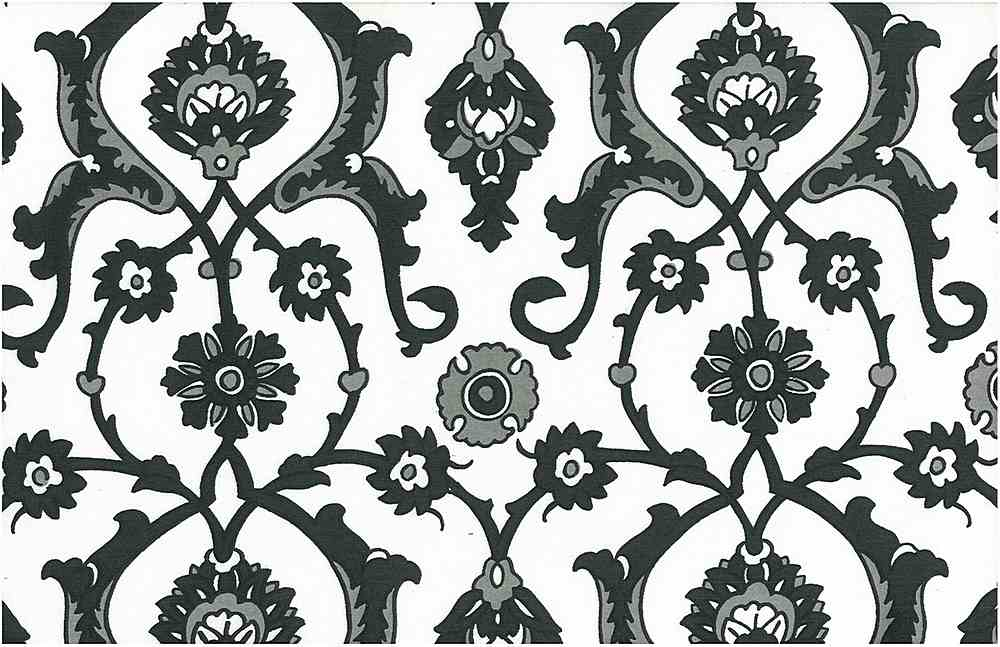 0903/1 / TURKISH TILE PRINT  / JET/WHITE