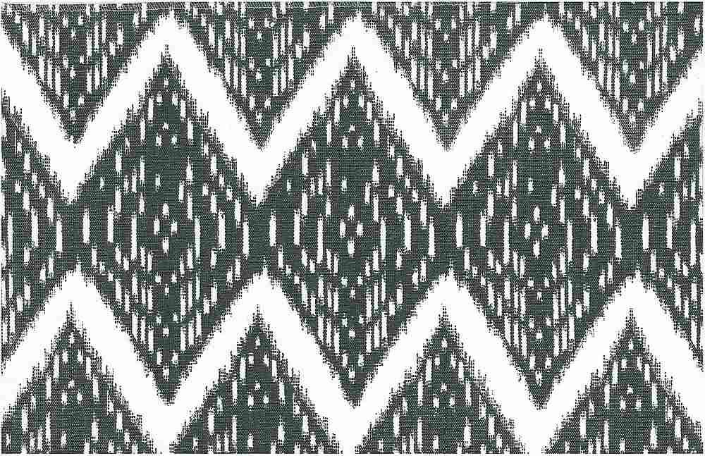 0904/1 / SAMARKAND IKAT PRINT / GRANITE/WHITE