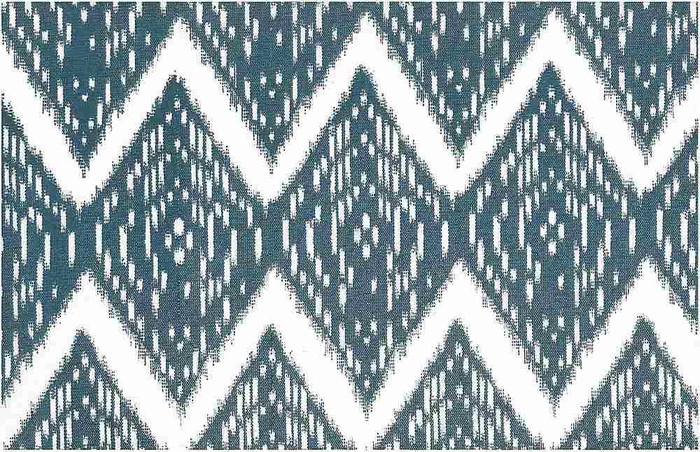 0904/2 / SAMARKAND IKAT PRINT  / DENIM/WHITE