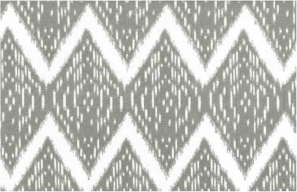 0904/3 / SAMARKAND IKAT PRINT / PUTTY/WHITE