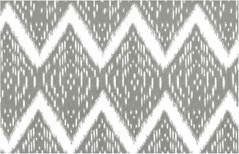 0904/3 / SAMARKAND IKAT PRINT / PUTTY/WHITE