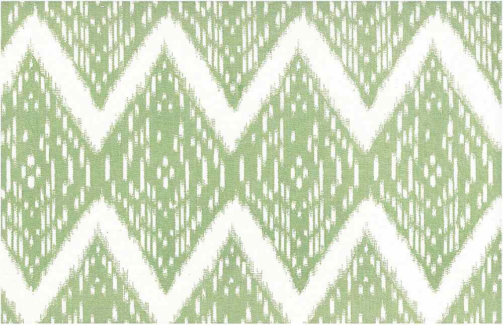 0904/4 / SAMARKAND IKAT PRINT / CELERY/WHITE