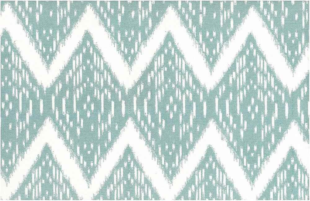 0904/5 / SAMARKAND IKAT PRINT / AQUA/WHITE
