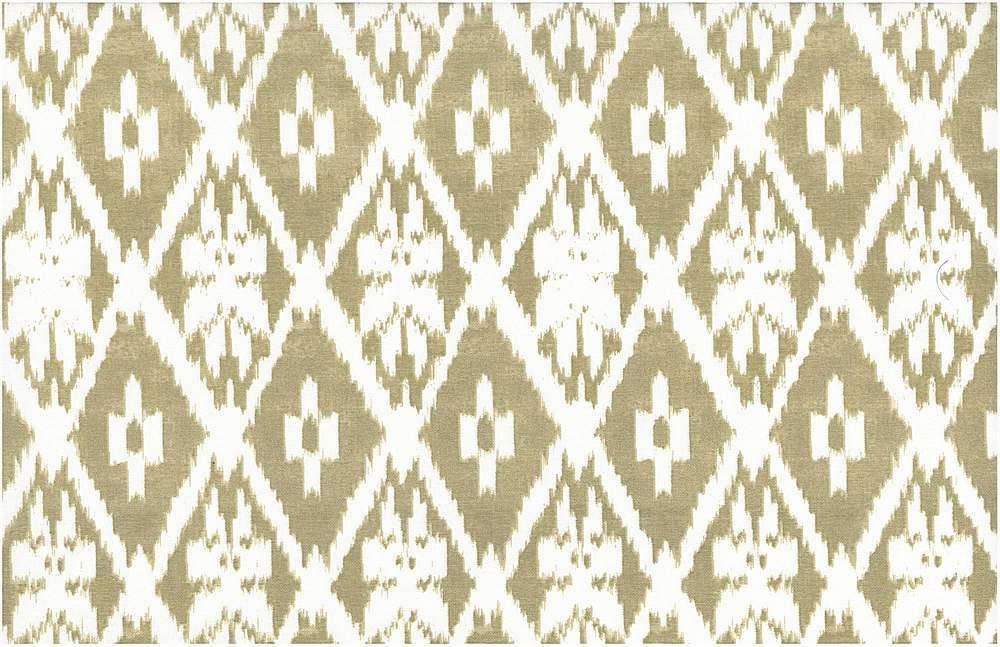 0905/3 / ANDRA IKAT PRINT / SAND/WHITE