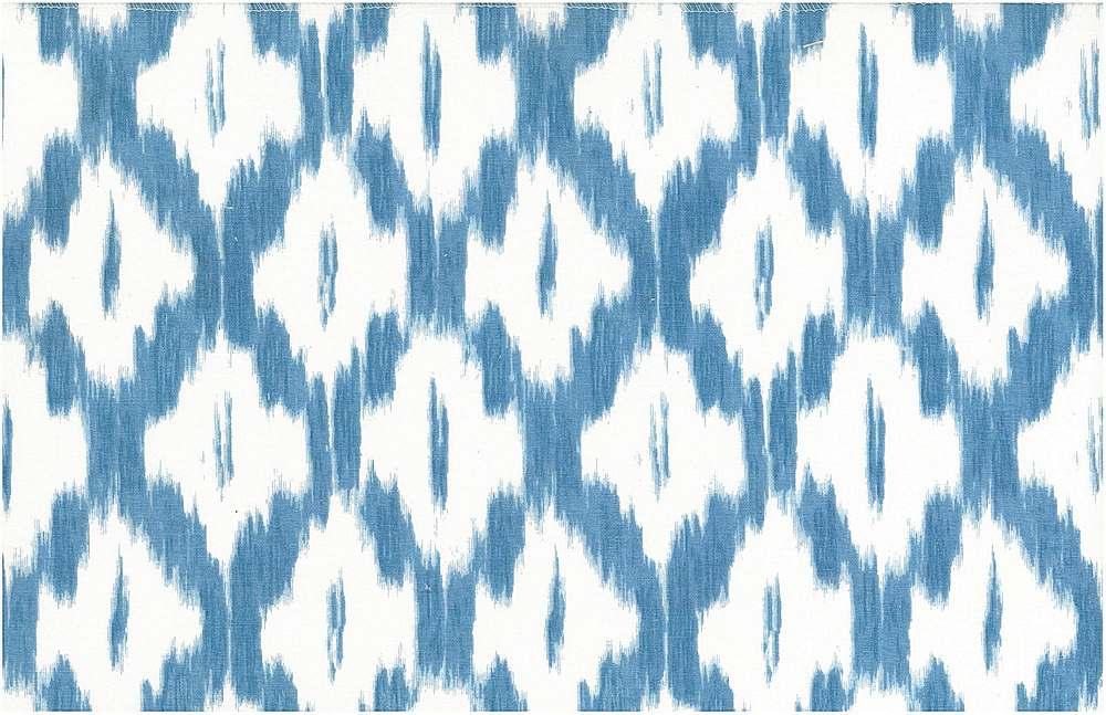 0906/2 / AKBAR IKAT PRINT  / AZURE/WHITE