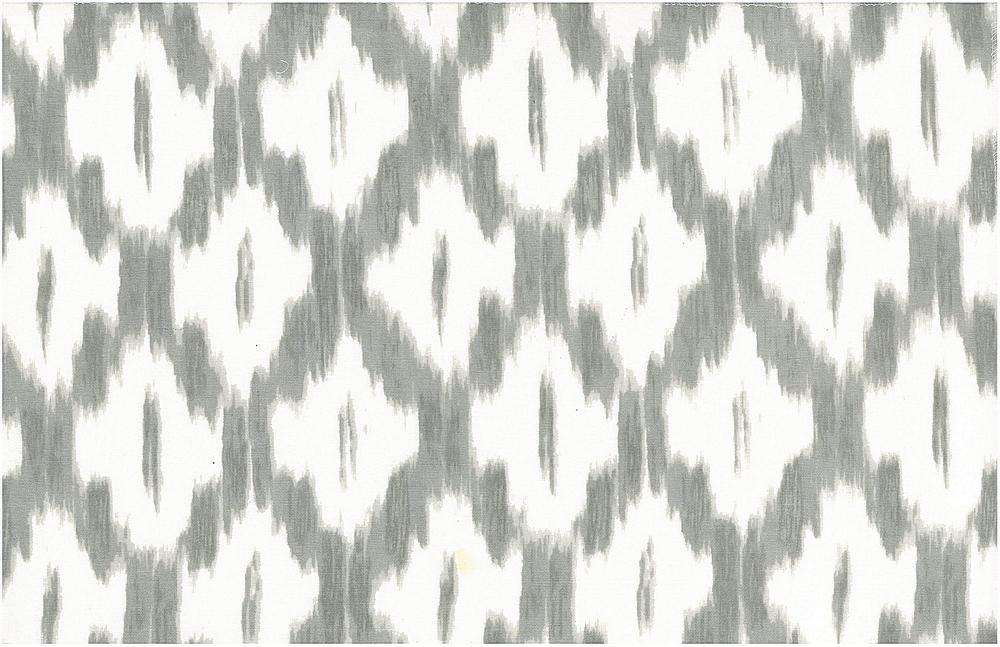 0906/3 / AKBAR IKAT PRINT / PEWTER/WHITE