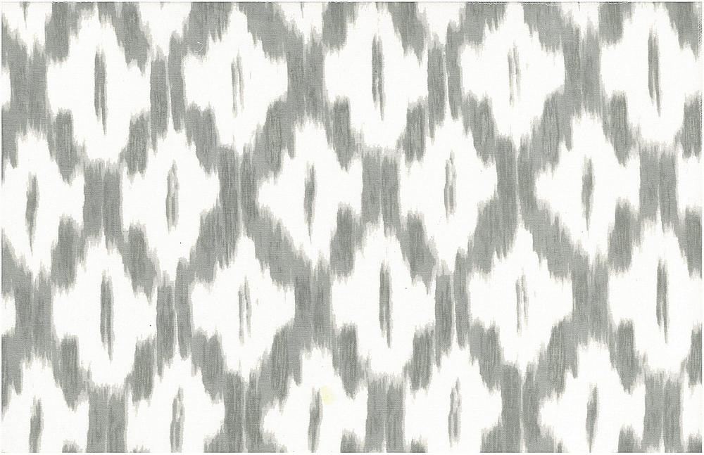 <h2>0906/3</h2> / AKBAR IKAT PRINT / PEWTER/WHITE