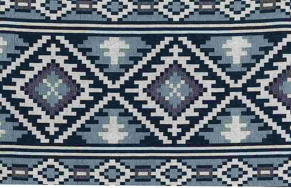 1178/1 / SADDLEBLANKET DOUBLEWEAVE / BLUE/WHITE