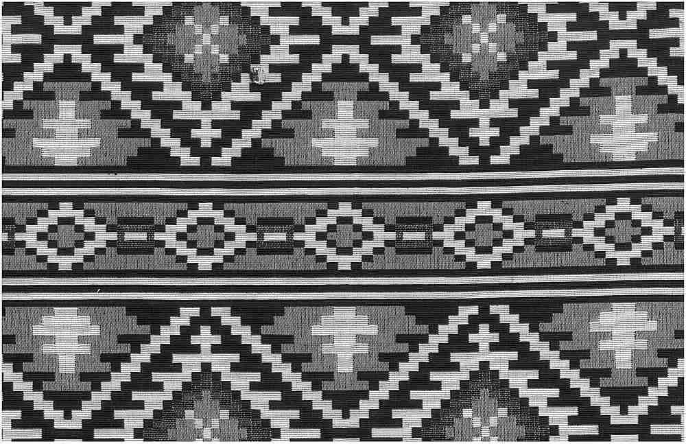1178/2 / SADDLEBLANKET DOUBLEWEAVE / BLACK/WHITE