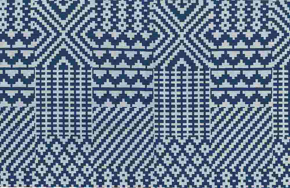 1179/1 / QUILT DOUBLEWEAVE / BLUE/WHITE