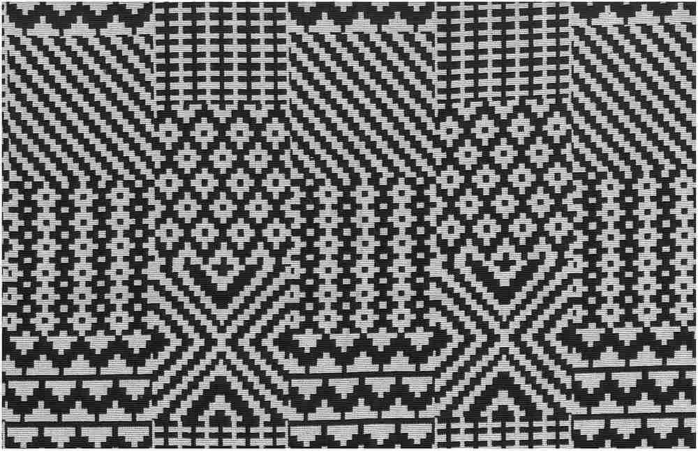 1179/2 / QUILT DOUBLEWEAVE / BLACK/WHITE