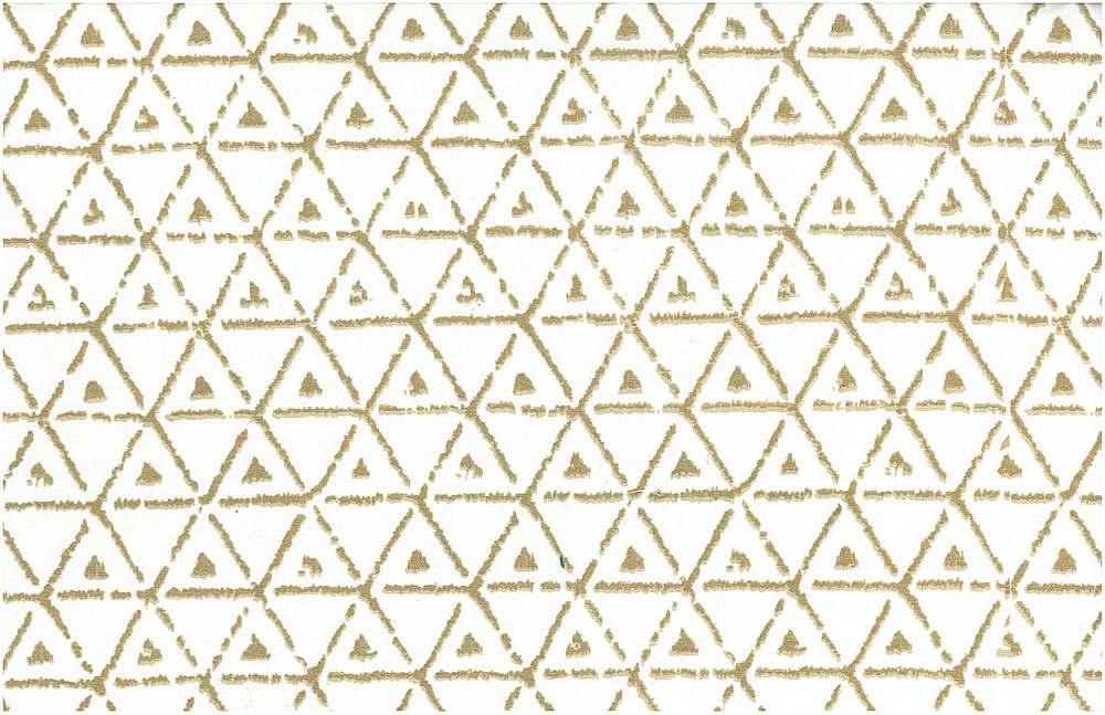 9201/2 / BROKEN TRIANGLE PRINT / PUTTY/WHITE