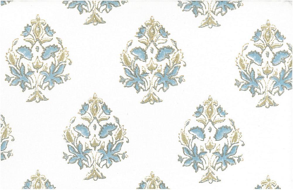 9203/4 / MUMTAZ PRINT / BLUETINT/WHITE