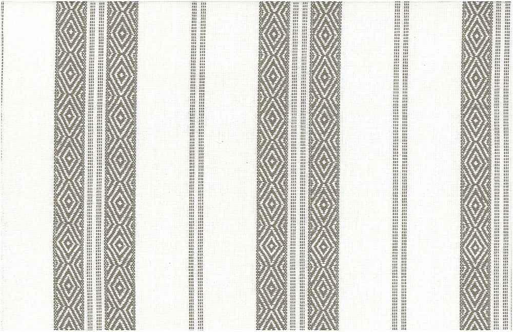 2322/1 / BERBER STRIPE  / TAUPE ON WHITE