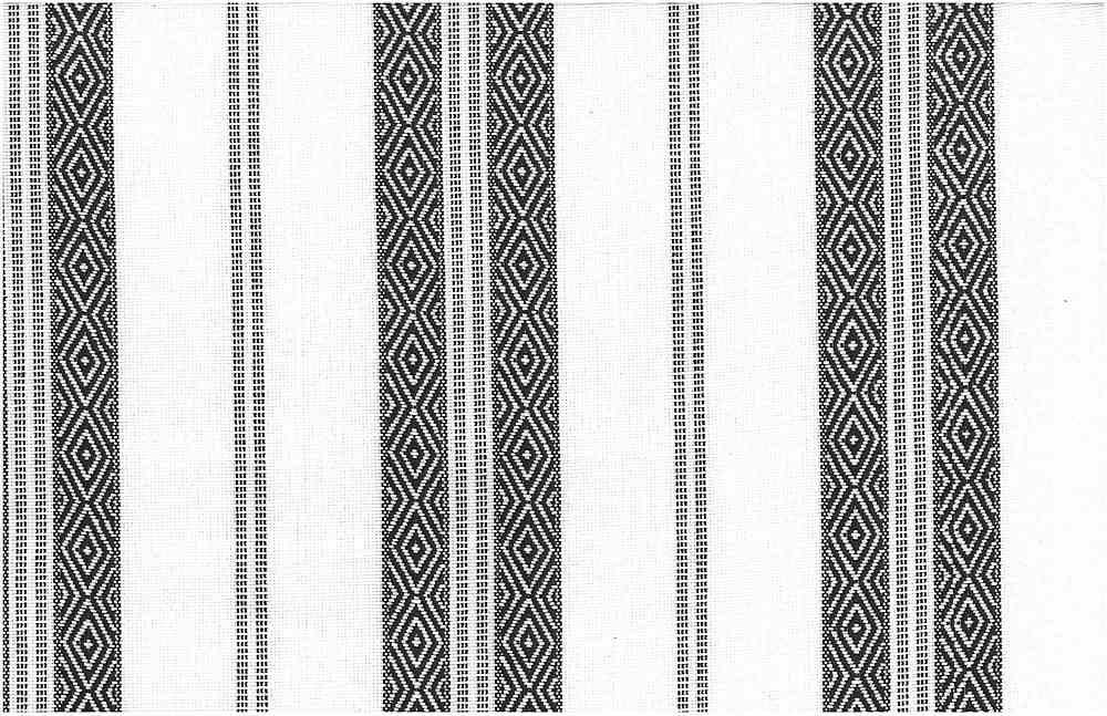 2322/2 / BERBER STRIPE / BLACK ON WHITE