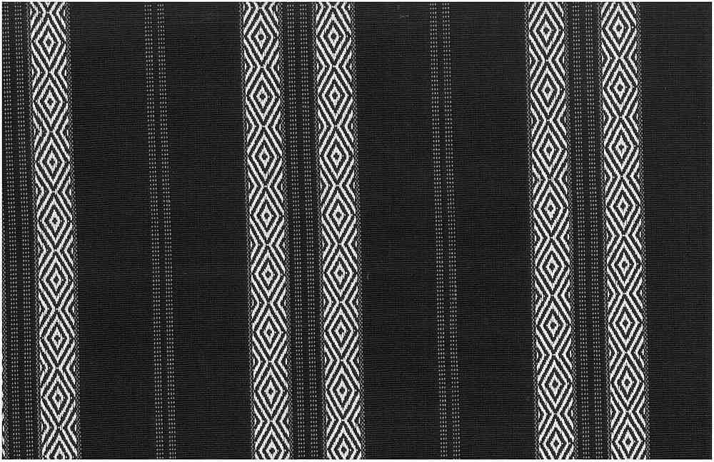 2322/3 / BERBER STRIPE / WHITE ON BLACK
