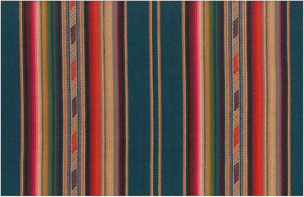 2324/1 / BANDOLIER STRIPE / TEAL MULTI
