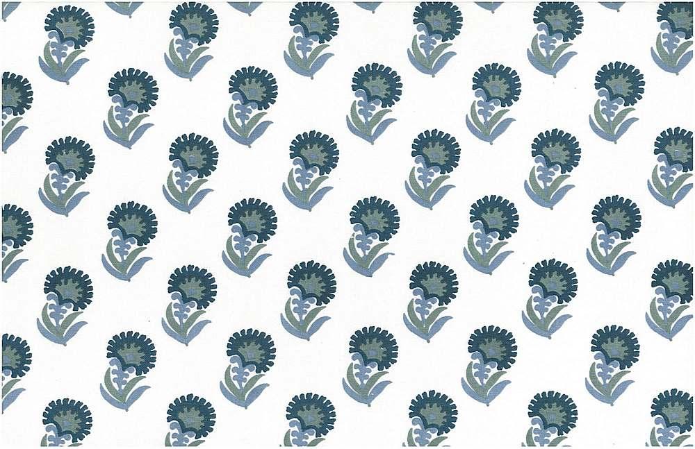 9208/1 / PURU PRINT / BLUES/WHITE