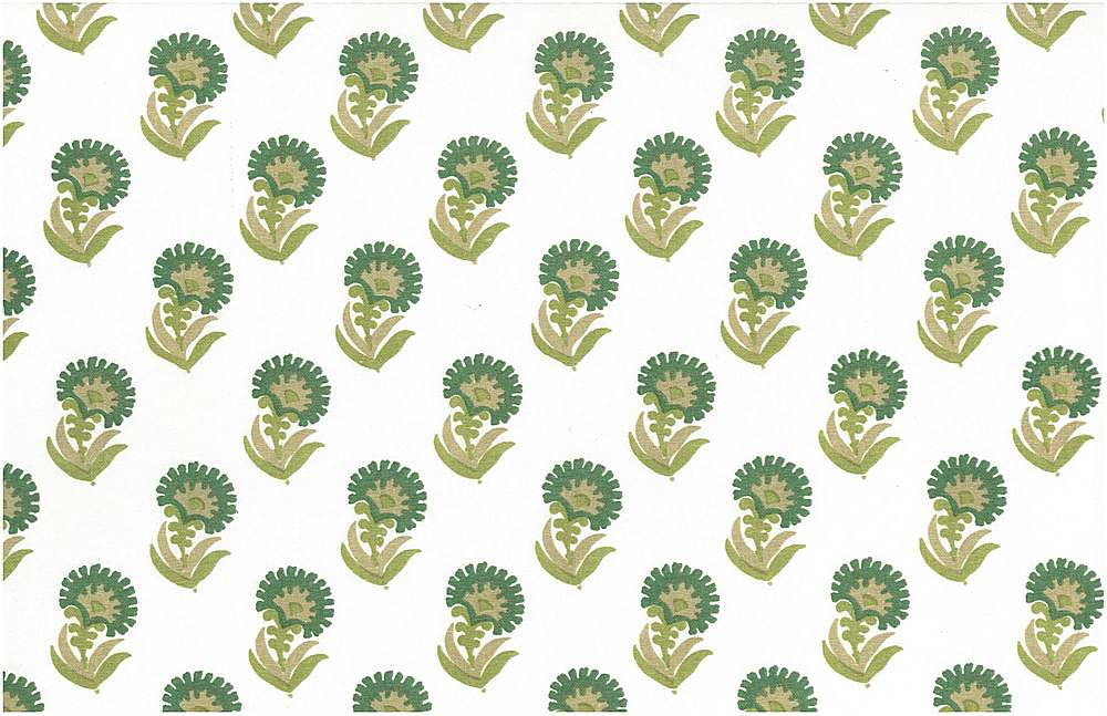 9208/2 / PURU PRINT / GREENS/WHITE