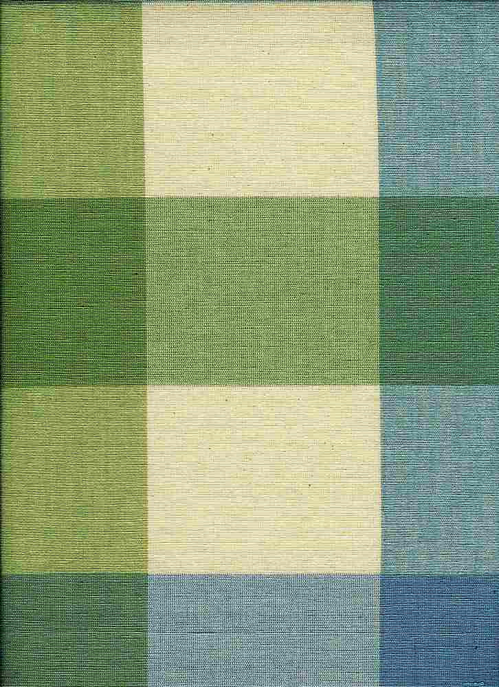 <h2>3138/1</h2> / BEACH BUFFALO CHECK / NAT/GREEN/BLU