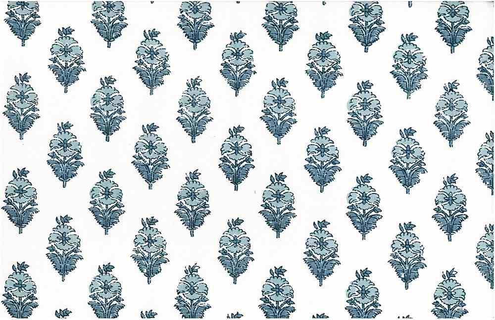 9212/1 / POPPY PRINT / OLD BLUES/WHITE