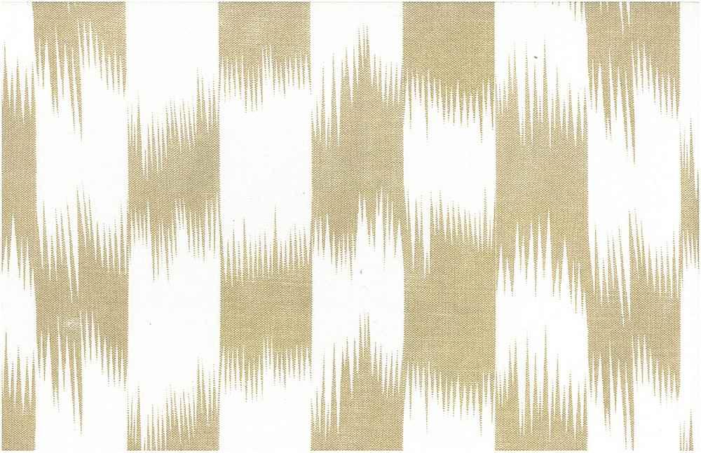 9213/3 / BRUSHSTROKE IKAT PRINT  / SAND/WHITE