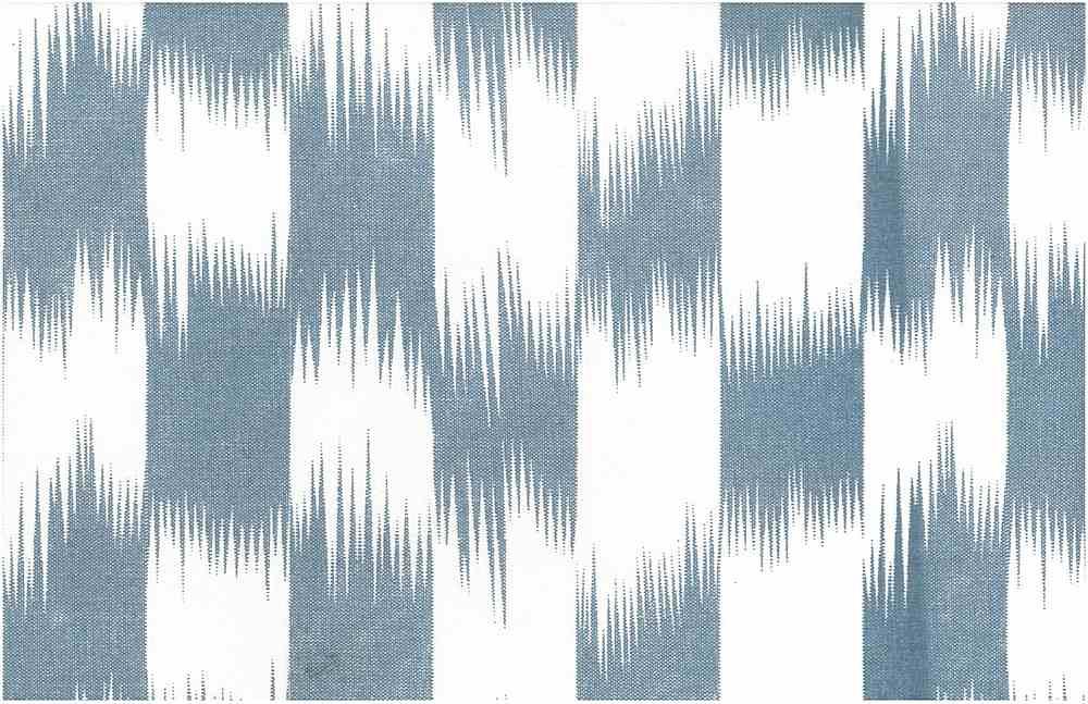 9213/4 / BRUSHSTROKE IKAT PRINT / DENIM/WHITE