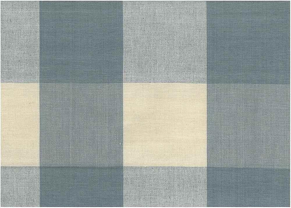 3163/1 / FOUR INCH CHECK / SOFT BLUE