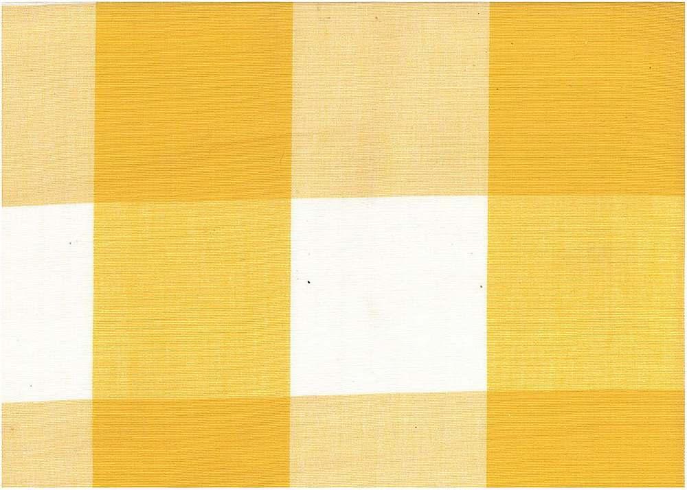 3163/3 / FOUR INCH CHECK / WHITE/YELLOW