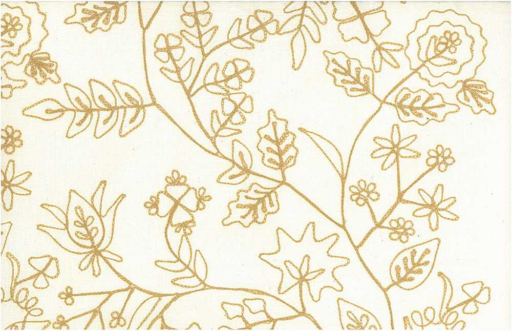 7104/1 / ROMANTIC VINE EMBROIDERED / ALMOND