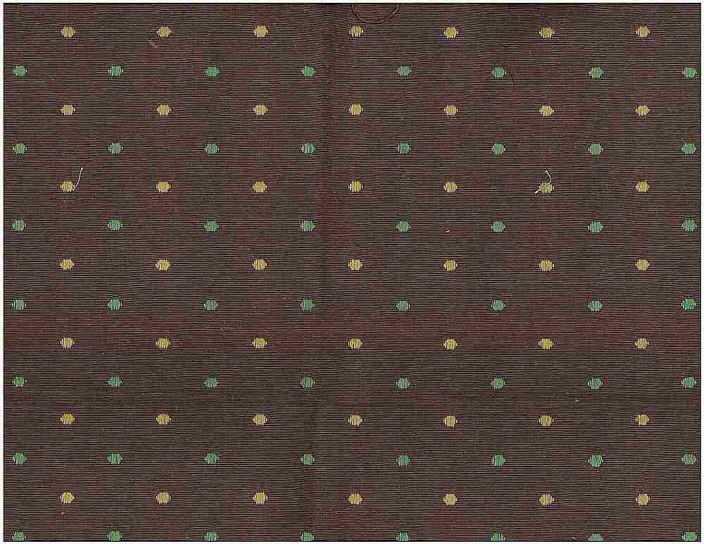 <h2>8059/4</h2> / DOUBLE DOTS DOBBY / CHOCOLATE